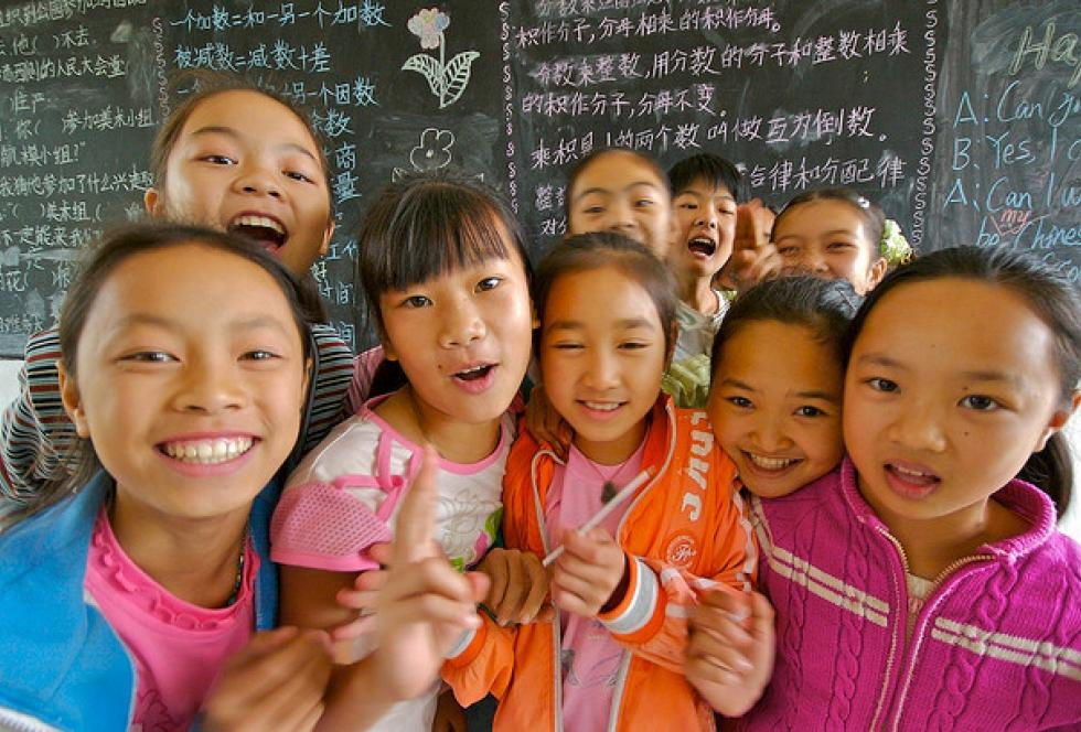Chinese girls in their classroom. Shanghai drew widespread attention for its high test scores on PISA in 2012. Later this year, new results will be released for PISA and another international exam, putting a spotlight once again on how the achievement of dozens of countries and education systems compare. (Flickr/Brian Yap)