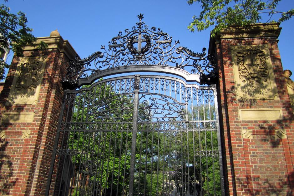 Johnson Gate at Harvard University. Researchers say low-income high school students with strong academic records aren't getting shut out of college opportunities. (Flickr/Wally Gobetz)